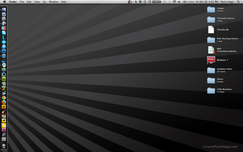 Dark Ray Burst Desktop Wallpaper Example
