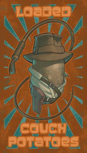 Indiana Jones Potato Illustrative Drawing