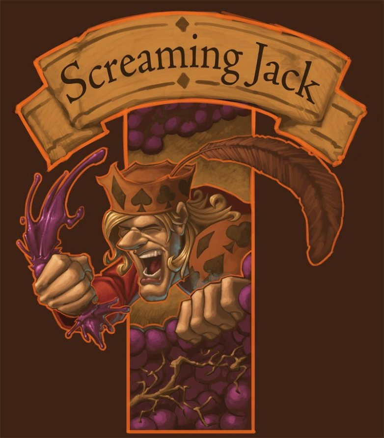 Screaming Jack Wine Logo / Poster