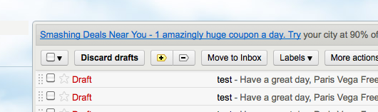The Discard Drafts Button: Accindentally discarded drafts in Gmail