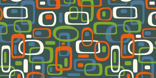 Retro pattern and color scheme