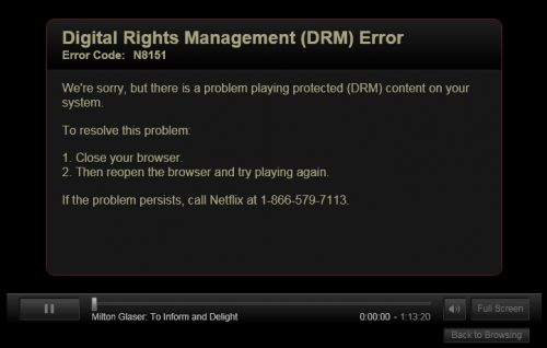 How to fix the Netflix DRM Error N8151 in Google Chrome for