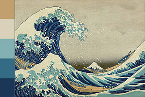 Color Palette based onThe Great Wave Off Kanagawa by Hokusai