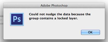 Photoshop locked layer alert