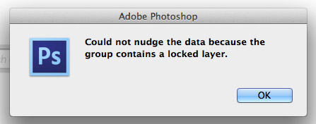 Photoshop locked layer alert