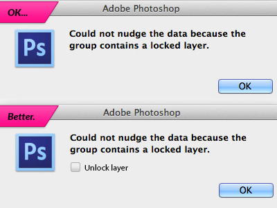 Better photoshop locked layer alert idea