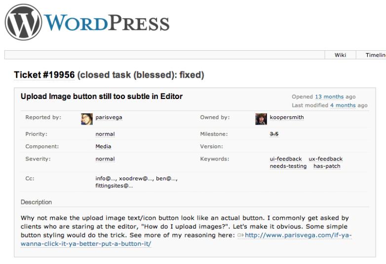 WordPress-usability-improvement-ticket