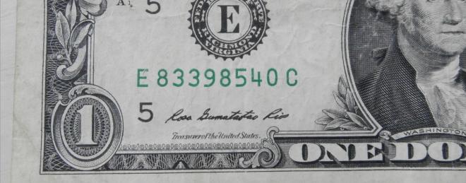 dollar bill serial number